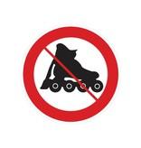 Verbot auf Rollerblades Sticker