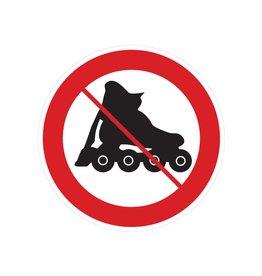 Prohibición de los rollerblades pegatina