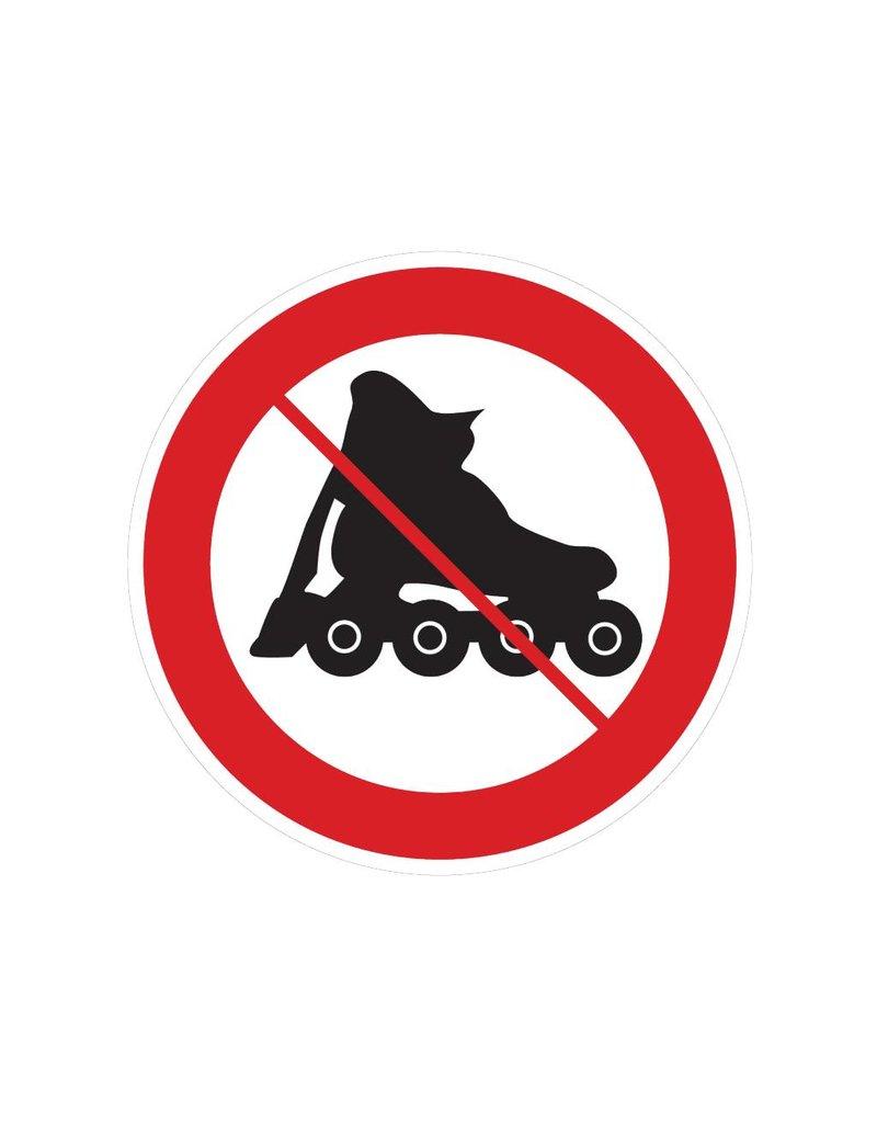 Interdiction de rollers autocollant
