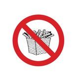 Verboden te betreden met voeding sticker
