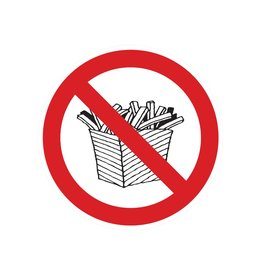 Prohibido entrar con comida pegatina