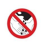 Produits chimiques interdits pour se laver les mains à utiliser autocollant