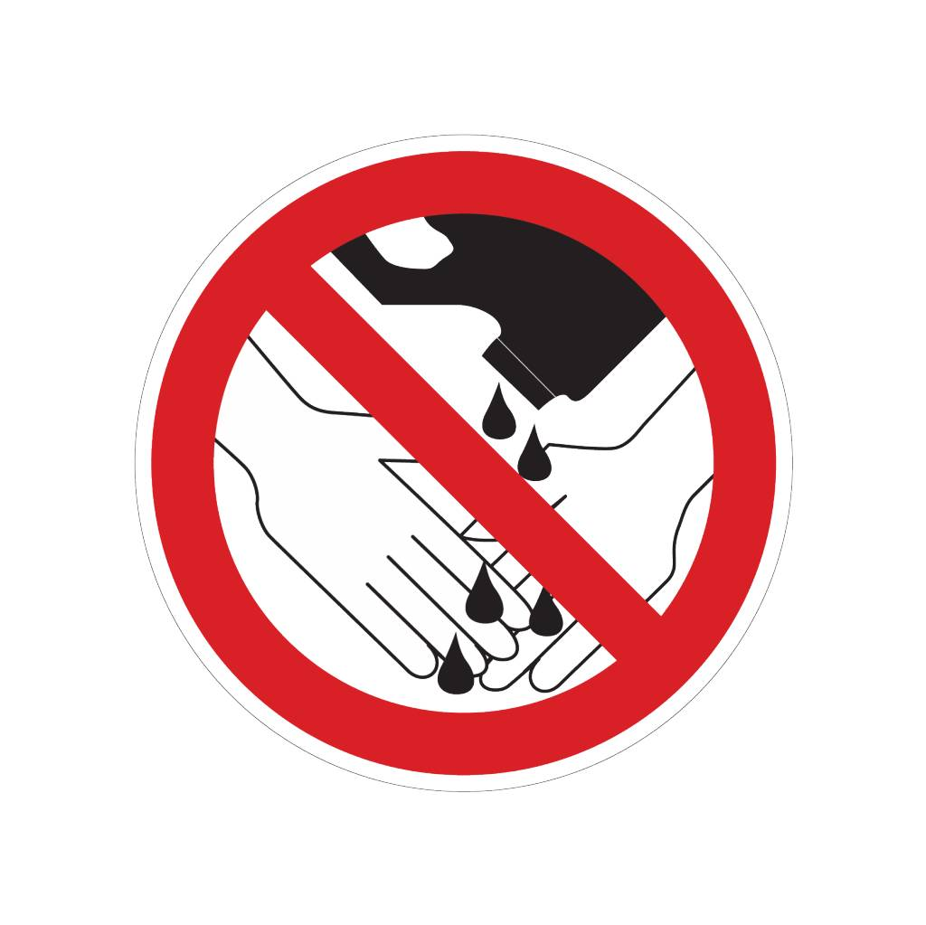 Verbotenen Chemikalien zu gebrauchen bei Händewaschen Sticker