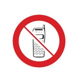 Los teléfonos móviles prohibidos pegatina