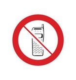 Mobile phones forbidden sticker