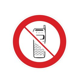 Mobile phones forbidden sticker