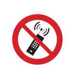 Teléfonos portátiles prohibido pegatina