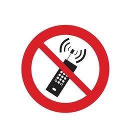 Draagbare telefoons verboden sticker