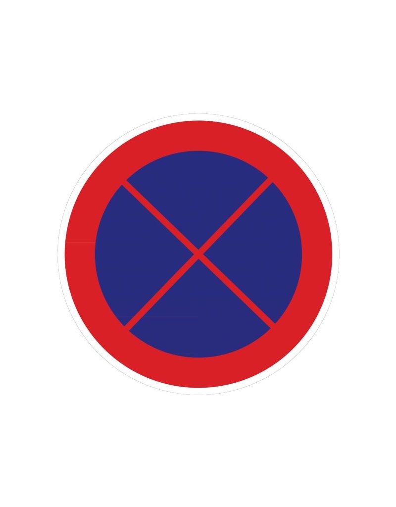 Verboden te stoppen sticker