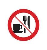 Eten en drinken verboden sticker