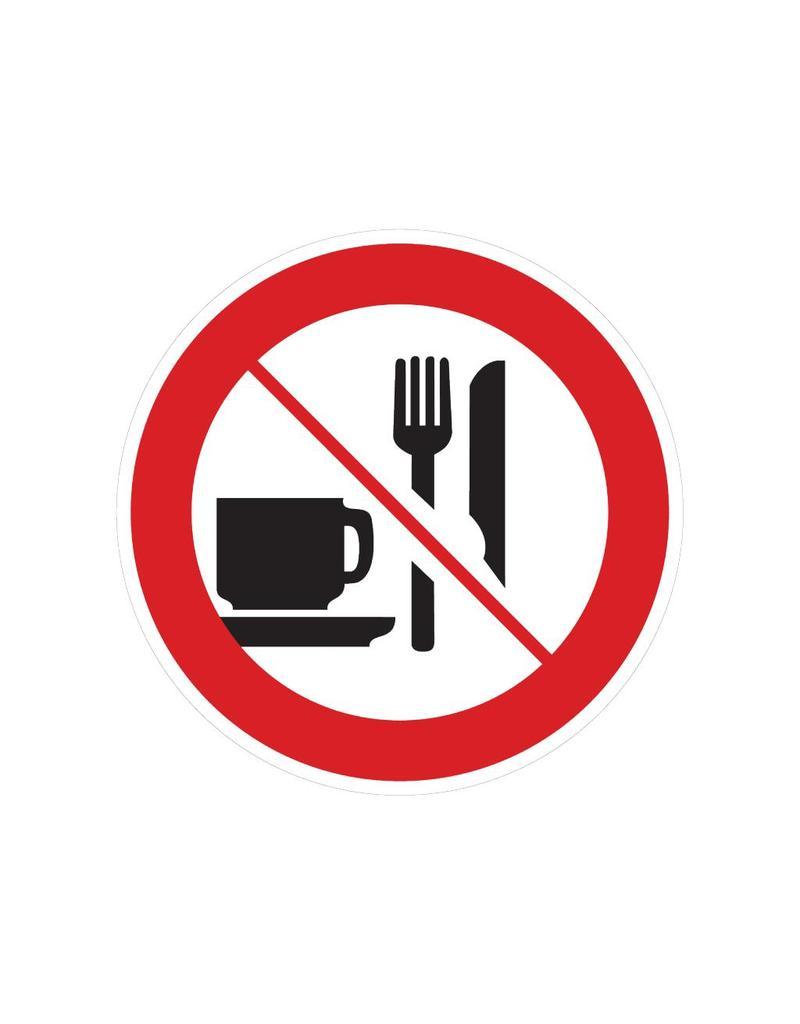 Essen und Trinken ist verboten Sticker
