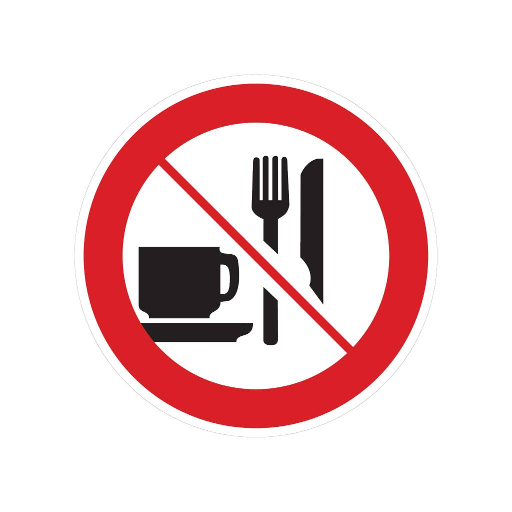Food and drinks prohibited sticker