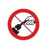 Prohibido tirar del cable pegatina