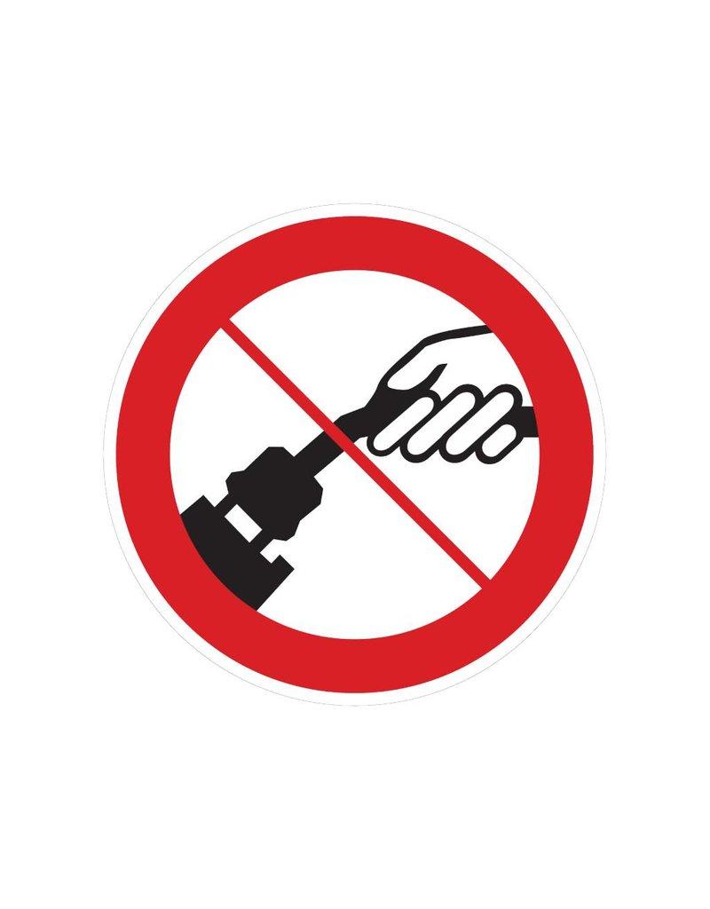 Interdite tirant sur le câble autocollant