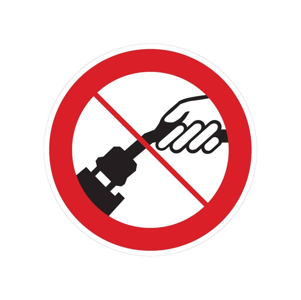 Entfernen des Elektrokabels verboten Sticker