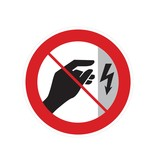 Niet aanraken, behuizing onder spanning sticker