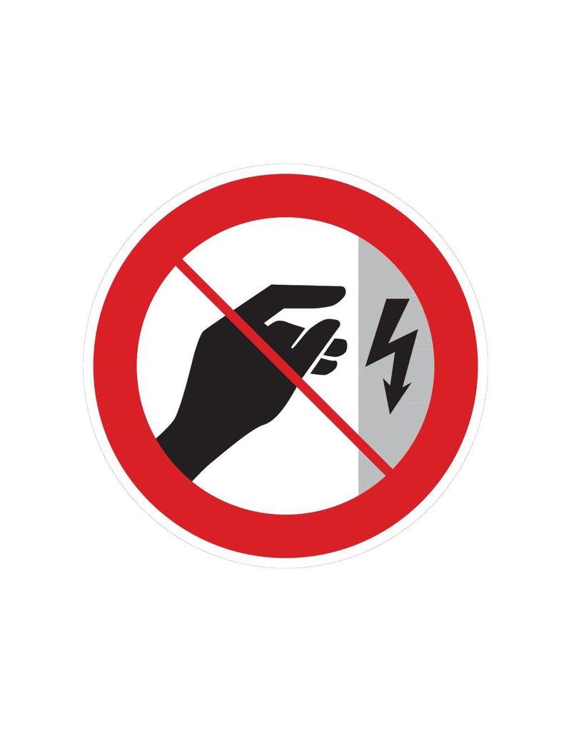 Autocollant ne touchez pas, boîtier sous tension