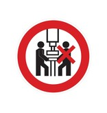 Maschine darf nur von einer Person bedient werden Sticker