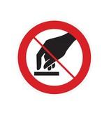 Aanraken verboden sticker