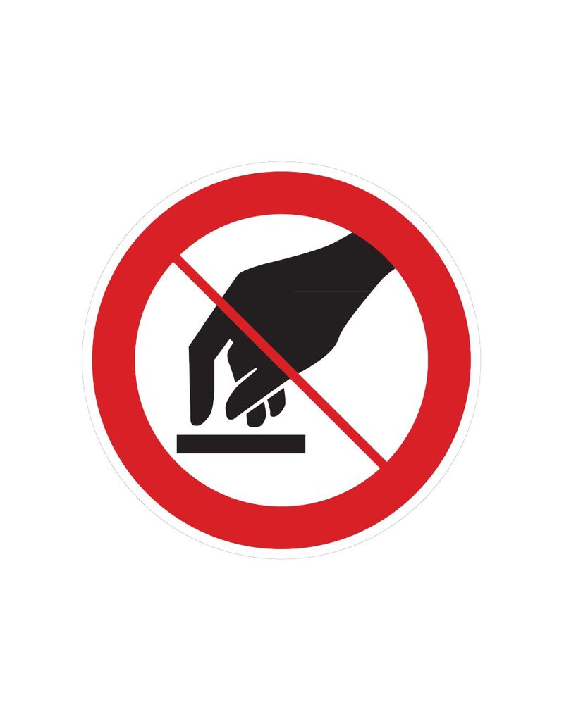 Tocar prohibida pegatina