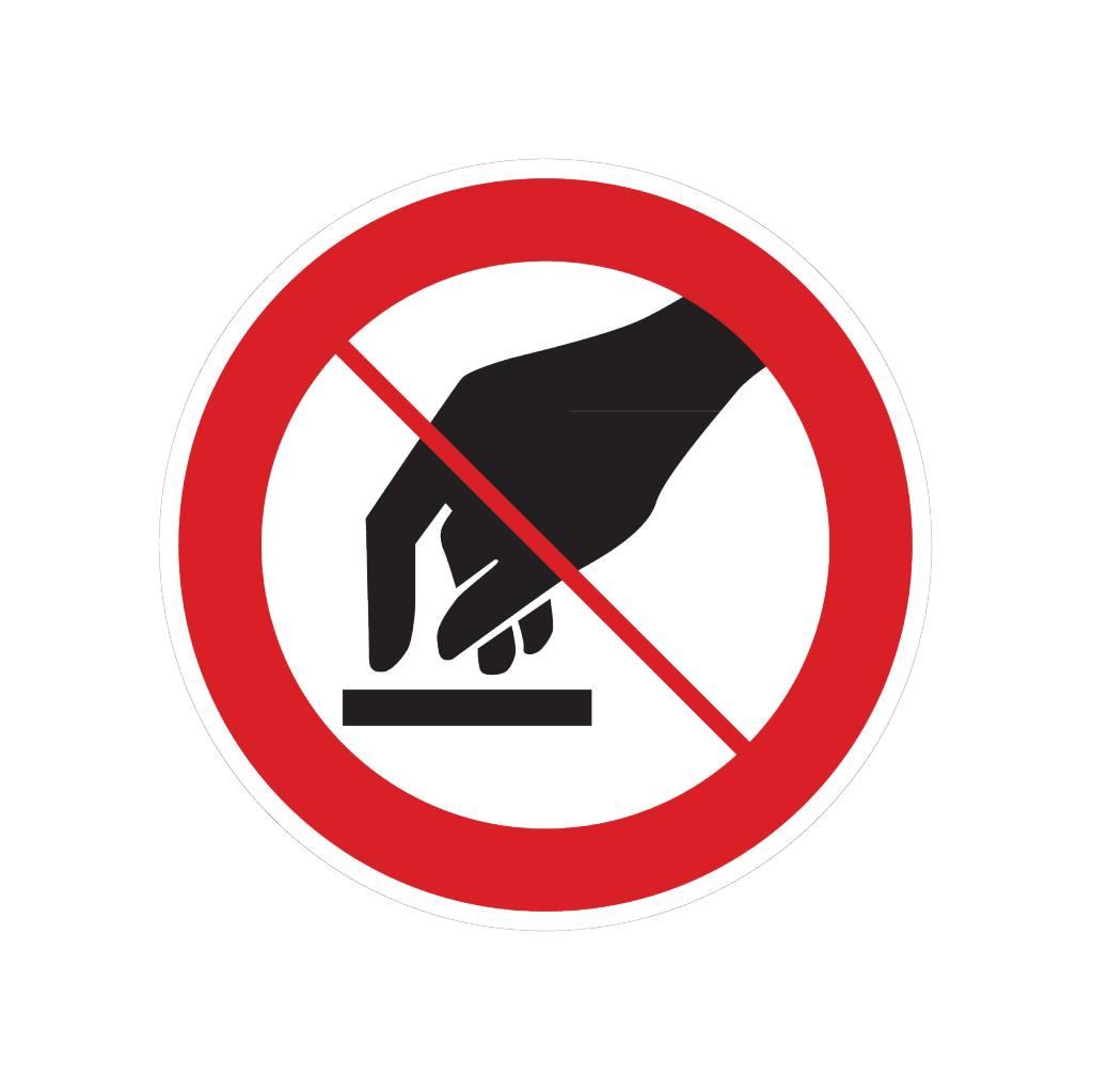 Berühren verboten Sticker