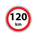 Max. 120 km autocollant