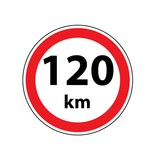 Max. 120 km sticker
