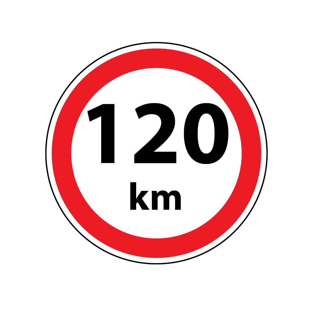 Pegatina Max. 120 km