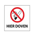 Sigaret hier doven Sticker