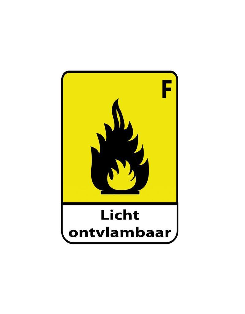Light Flammable F Sticker