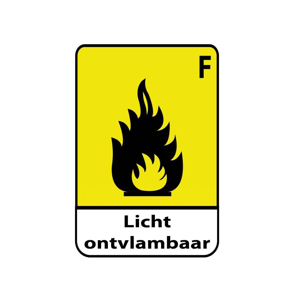 Licht ontvlambaar F Sticker