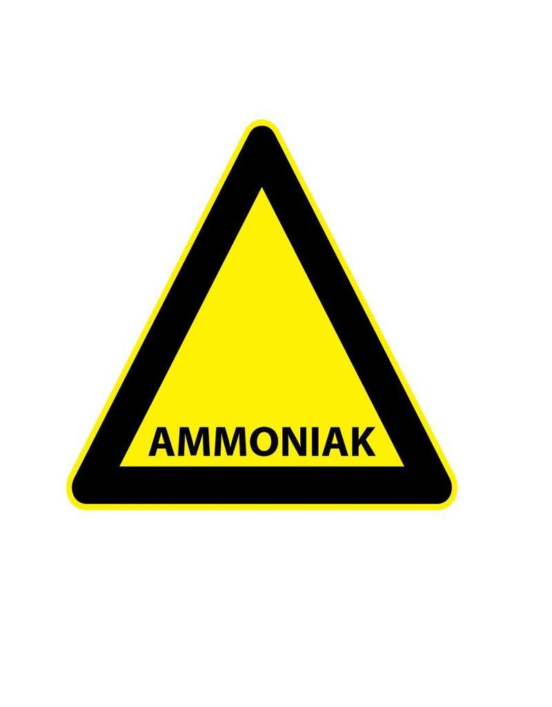 Ammonia sticker