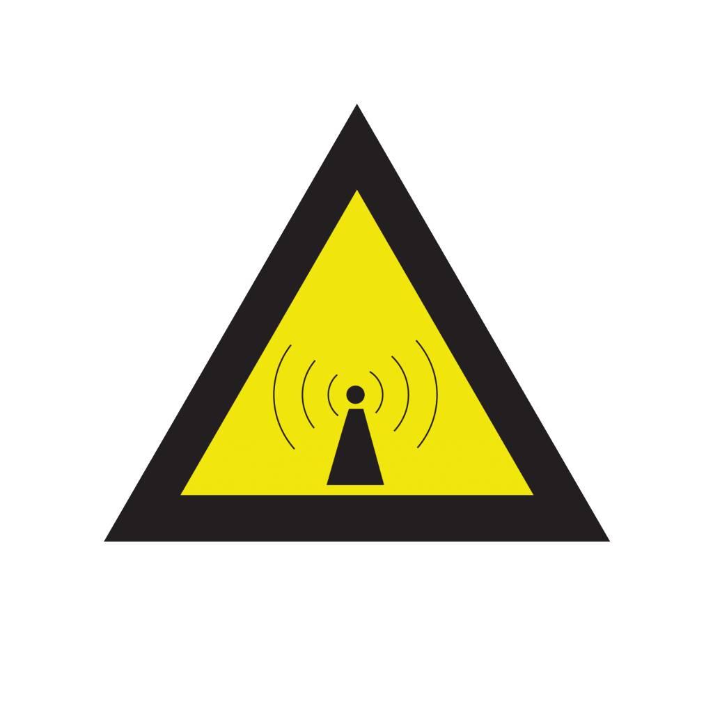 Niet-ioniserende straling sticker