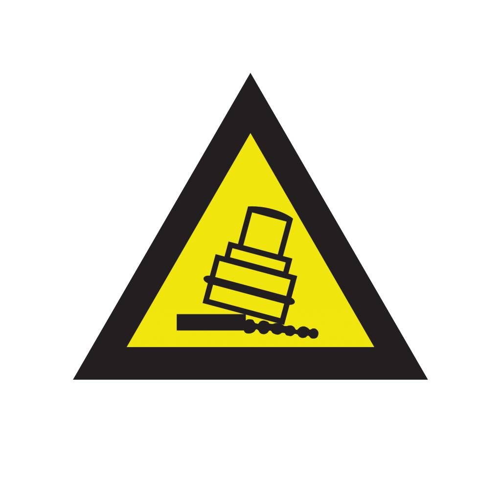Kantel gevaar sticker