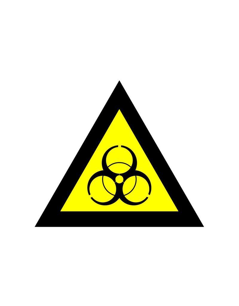 Biological contamination risk sticker