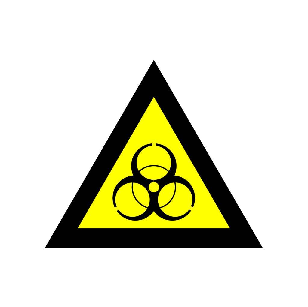 Ökologische Infektiongefahr Aufkleber