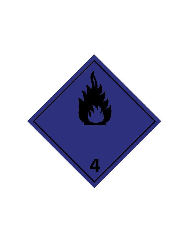 Ontwikkeld brandbare gassen in contact met water
