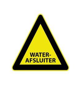 """Pegatina """"Waterafsluiter"""""""