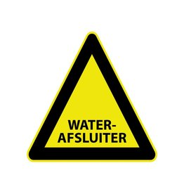 Waterafsluiter Sticker
