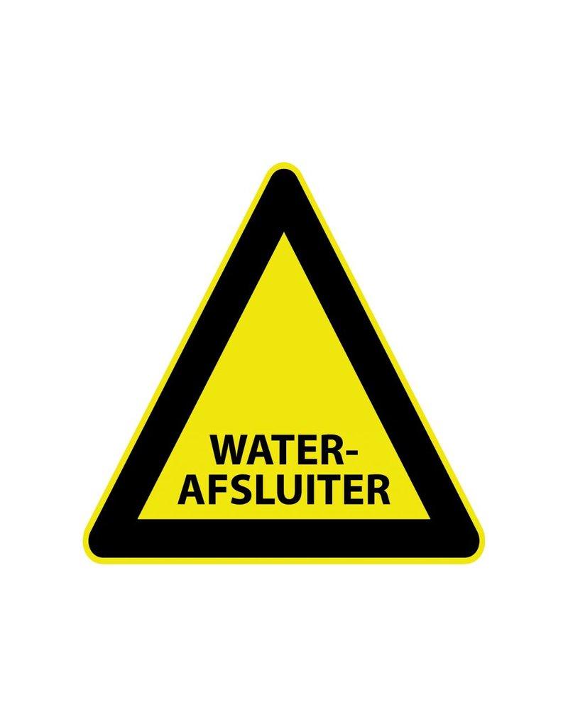 """Sticker """"Waterafsluiter"""""""