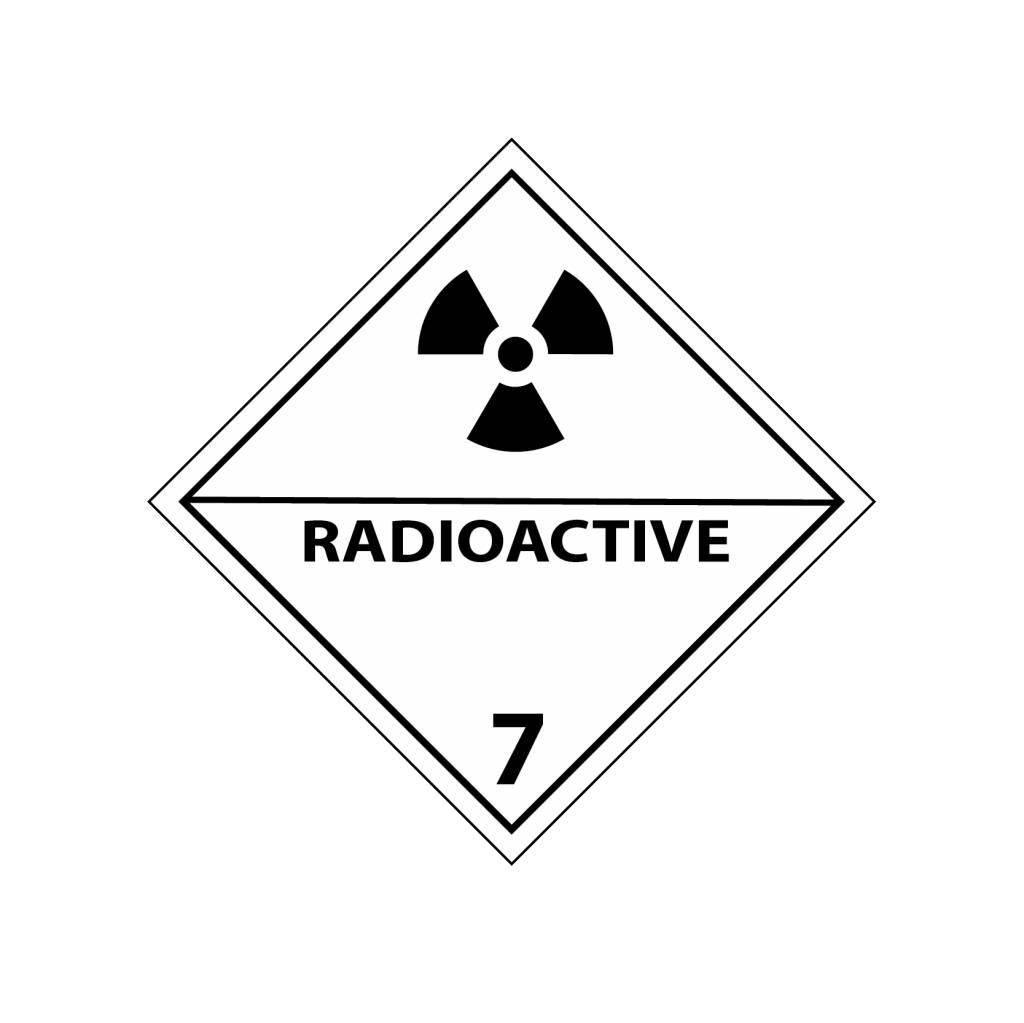 Radioaktiv 7 Aufkleber