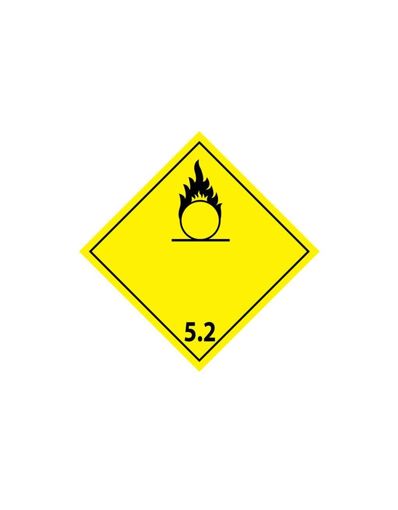 Organische peroxides Sticker