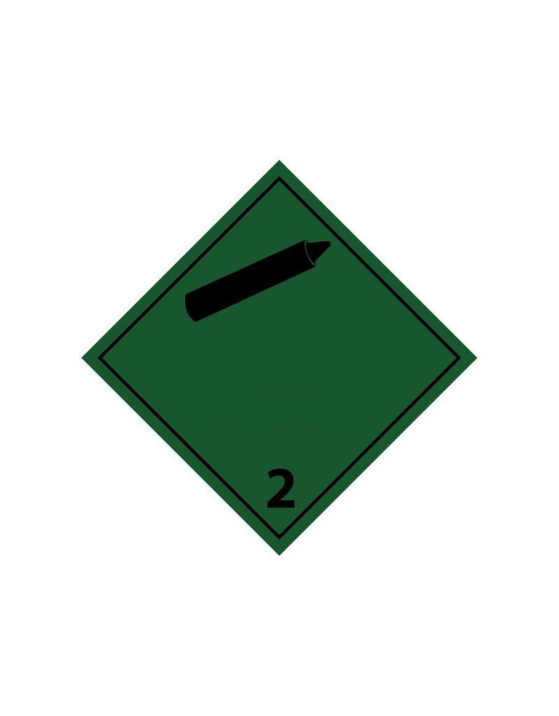 Non-flammable non-toxic gases 2 black Sticker