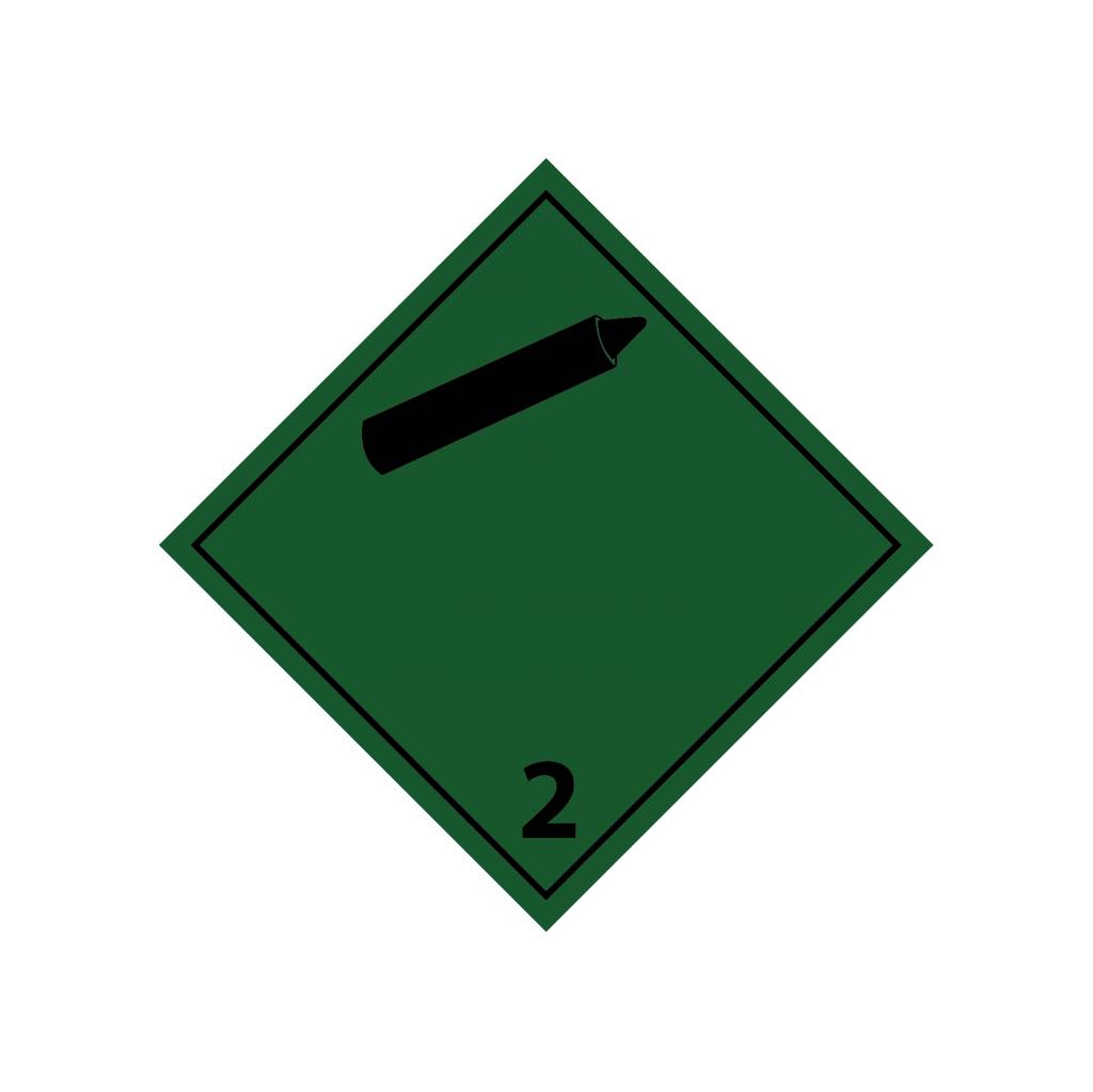 Non-flammable non-toxic gases 2 black Sticker