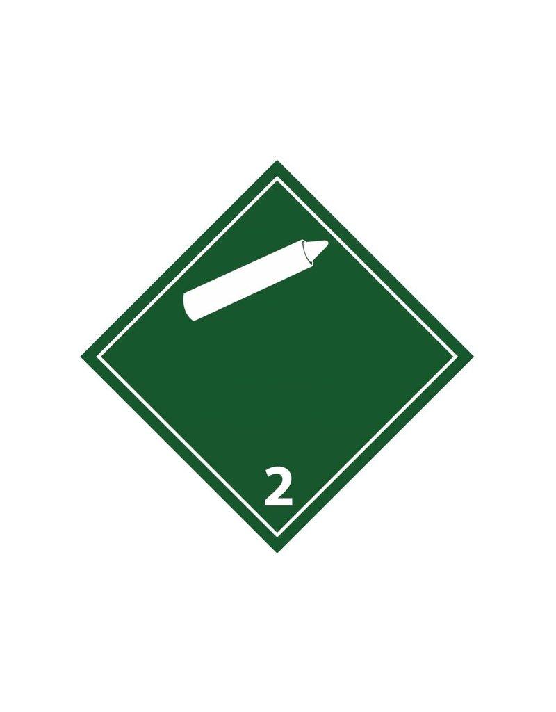 Los gases no inflamables no tóxicos pegatina