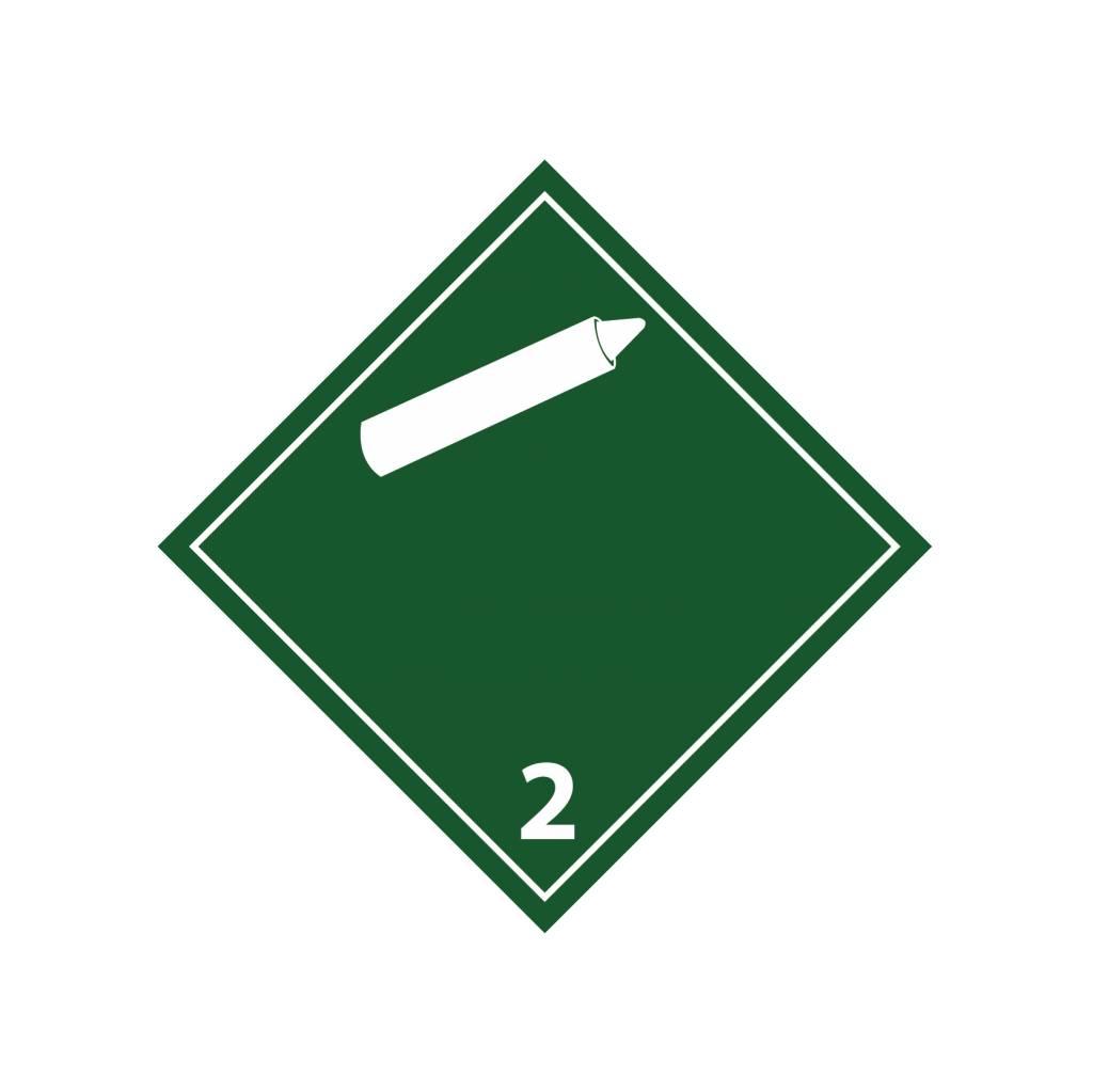 Nicht brennbare, nicht giftige Gase 2 Aufkleber