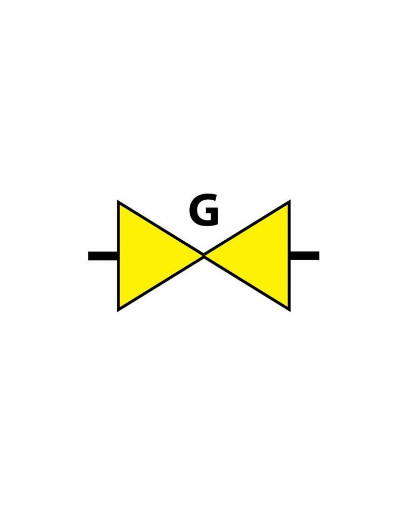 Locatie gasafsluiter Sticker