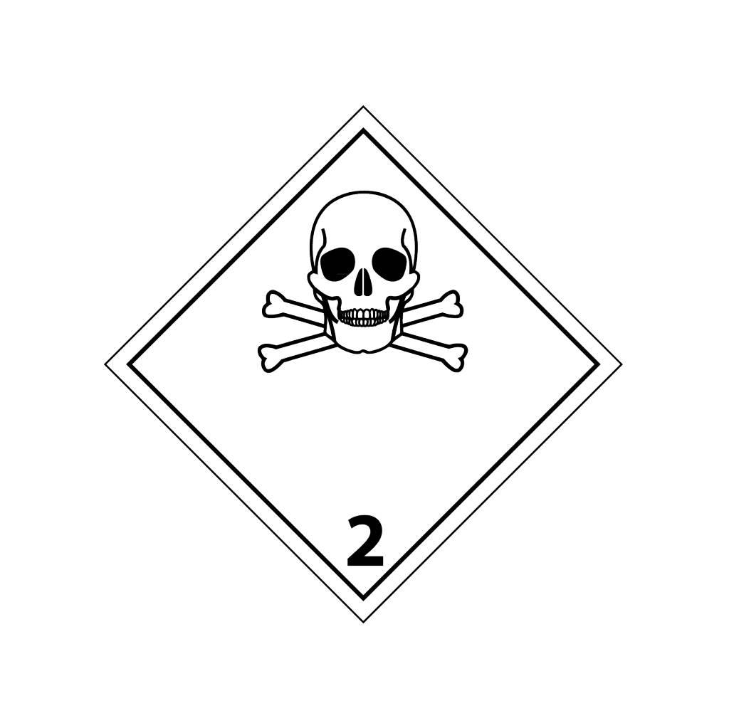 Giftigen Gase 2 Aufkleber