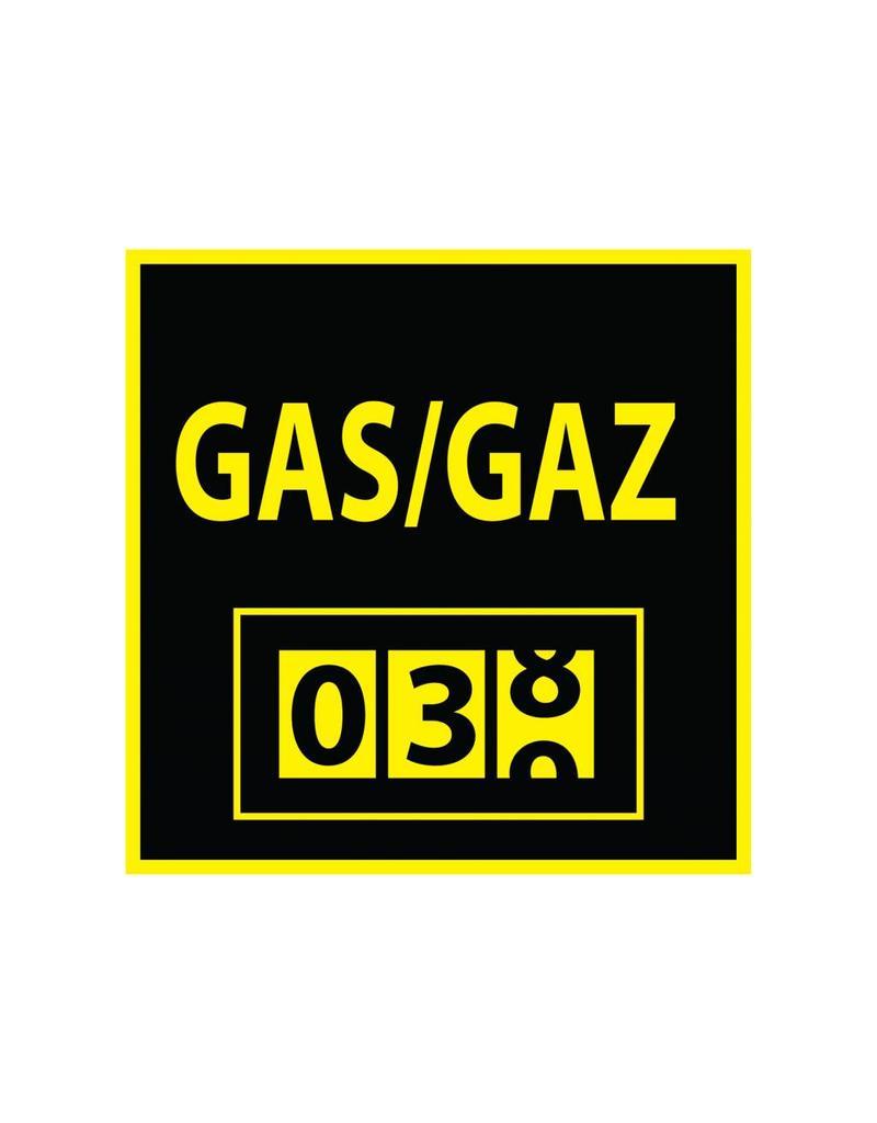 Gasmeter Sticker