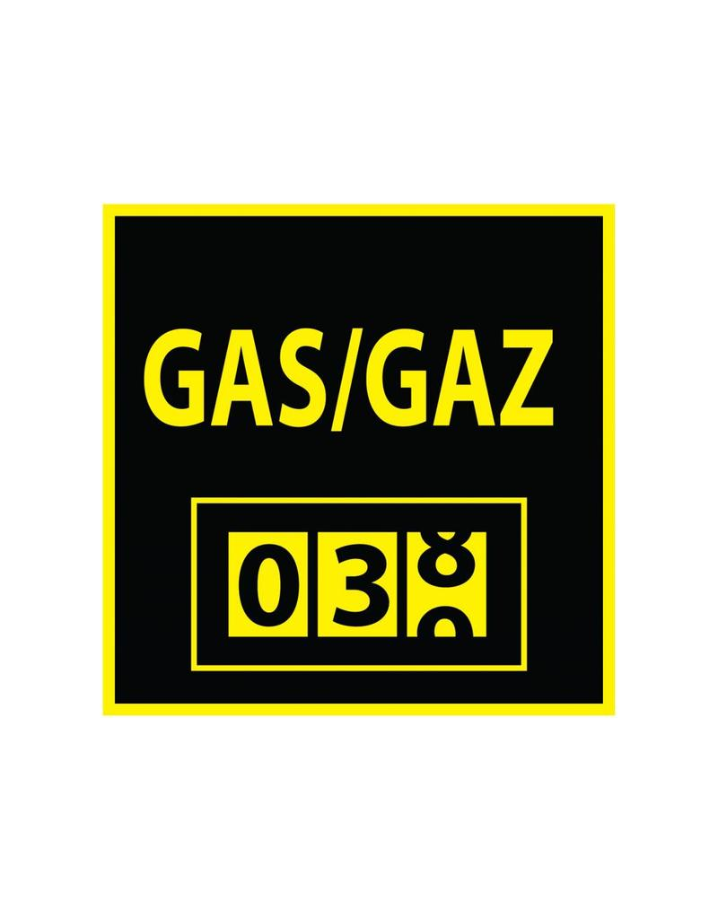 Medidor de gas pegatina